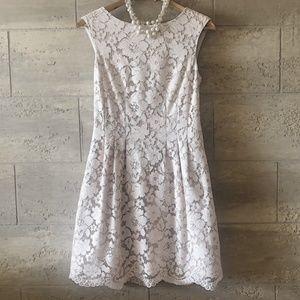 Vince Camuto Blush Pink Lace Sleeveless Dress